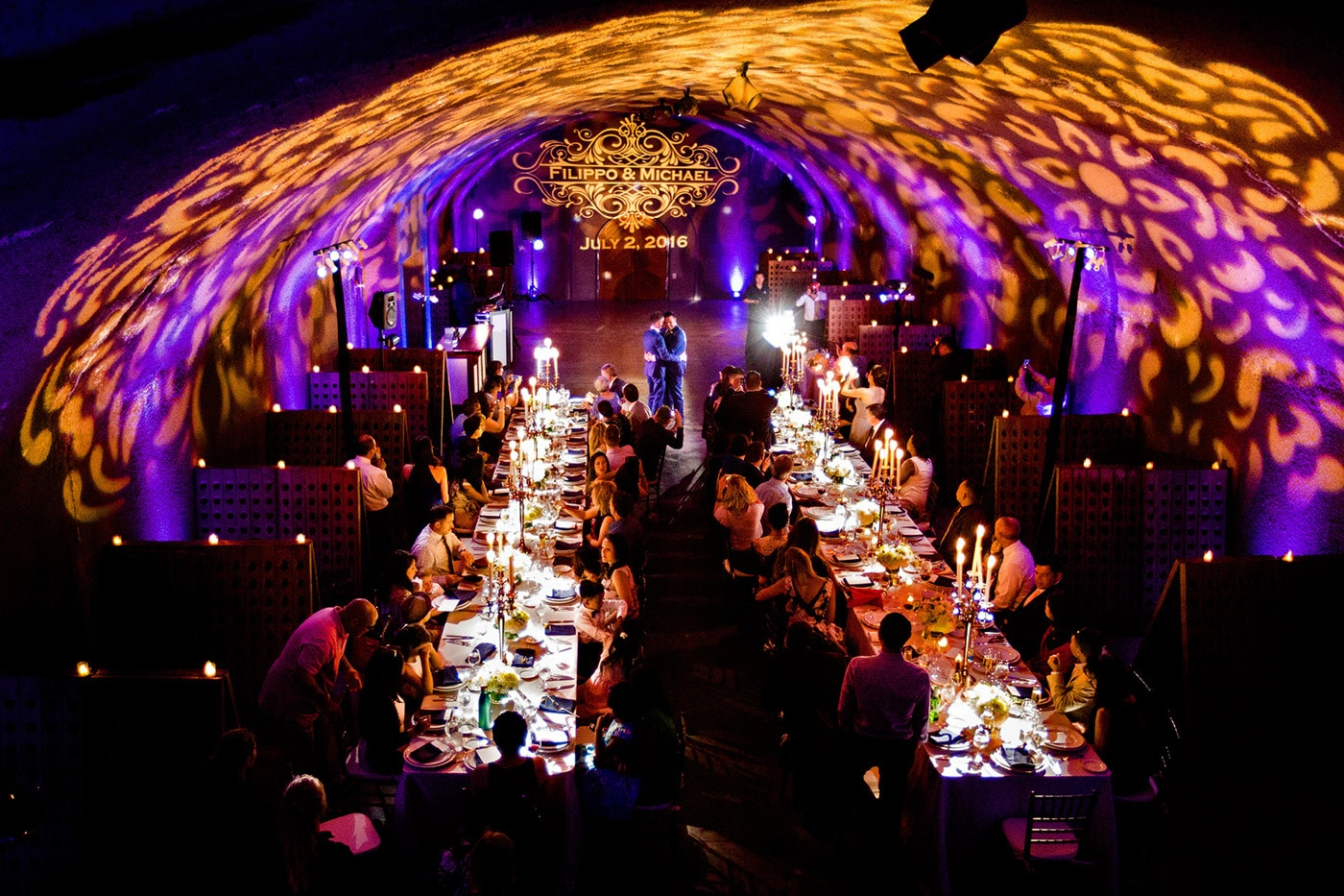 Wedding Reception in a Cave